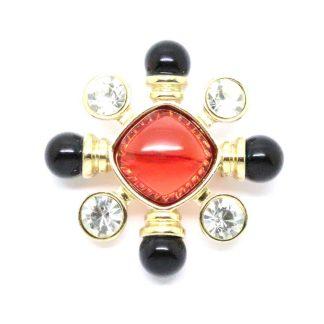 Stylish Gold Tone Maltese Cross Brooch