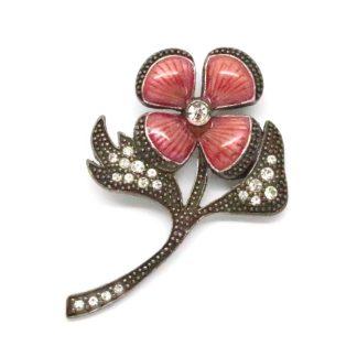 Vintage 1928 Jewelry Co. Enamel Flower Brooch